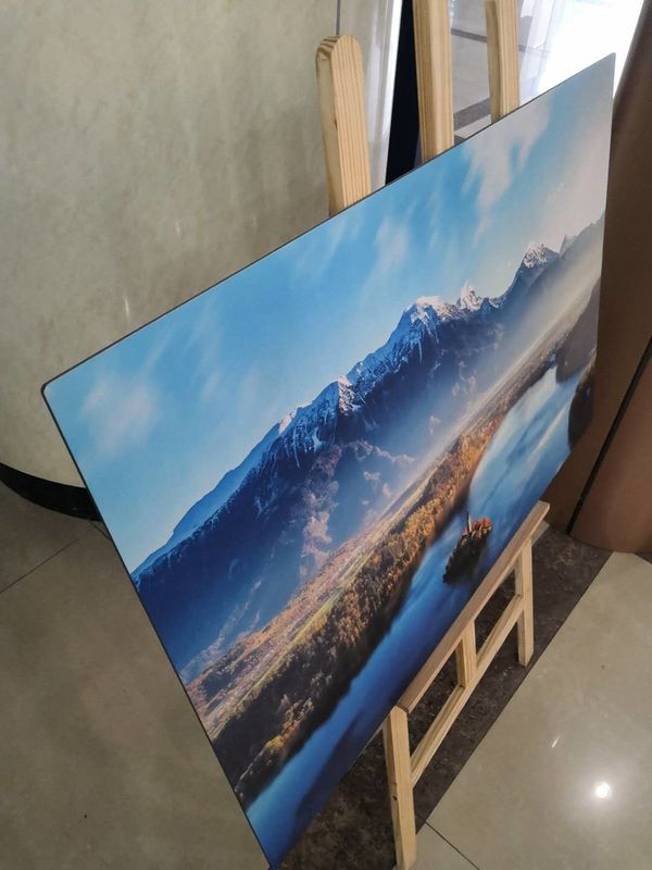 Digital Printed Bright Color Brushed Aluminum Panels 3mm / 4mm PET Or PVDF Coating Aluminum Signage Board